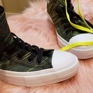 Black & Lime Green Chucks(Converse)